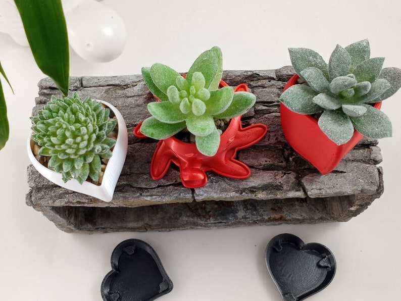 Mini Octopus Plant Pot in Your Choice of Color  Includes Free Matching Drainage Saucer  3D Printed  Cute Sets of 3 or 5