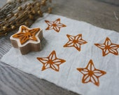 Star anise stamp, stamp for clay, fabric stamp, wooden stamp, soap stamp, invitation stamp, plant stamp