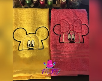 Boy Mouse & Girl Mouse hand towels!