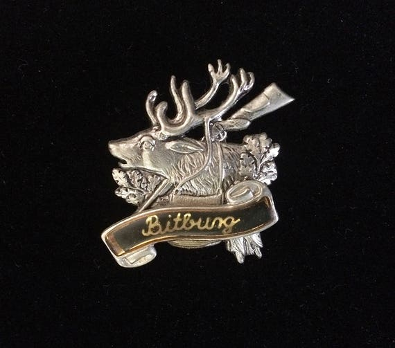 Vintage Bavarian OKTOBERFEST Deer Stag Alpine Hunting HAT PIN