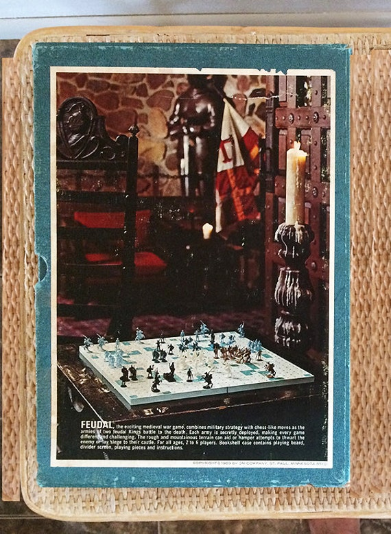 Vintage Board Games Feudal Strategy Game 1960s 3m Bookshelf Games Vintage Mid Century Toy Game Strategy War Game Chess 1960s Board Games