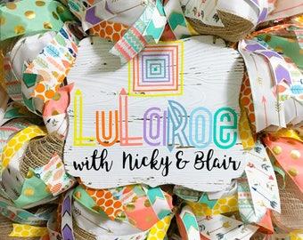 LuLaRoe Wreath, Custom LuLaRoe Wreath, LuLaRoe Decor, LuLaRoe Shop Decor, LuLaRoe Shop Door Decor