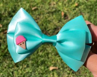 Aqua ice cream bow