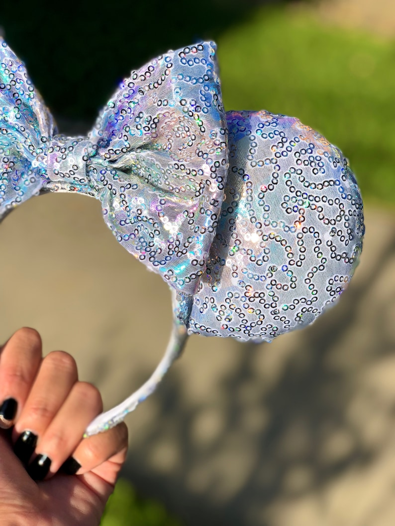 Rainbow holographic Mouse Ears Ready to Ship