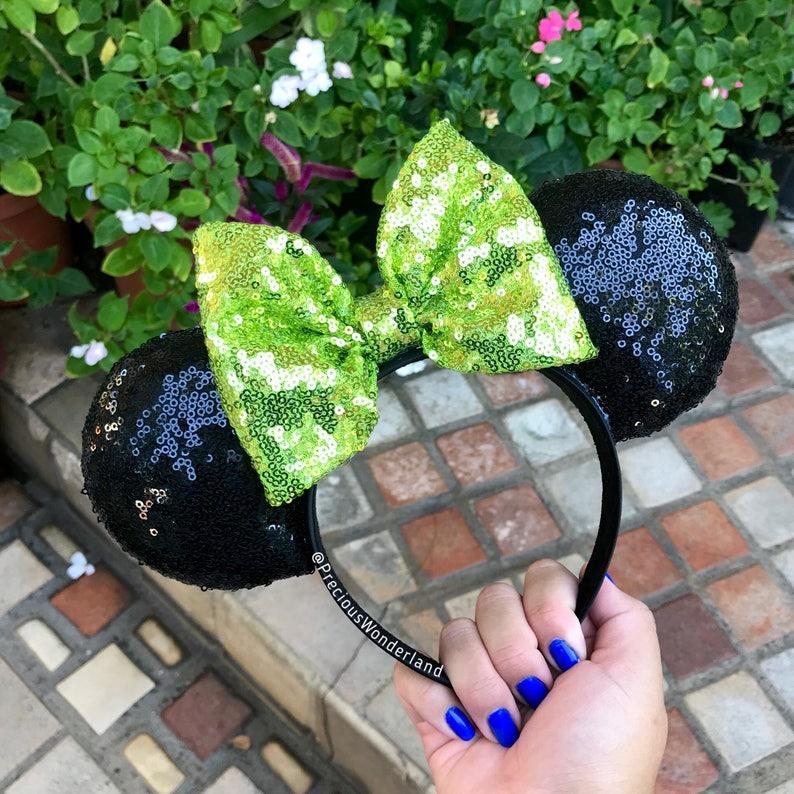 Lime Green Halloween Mouse Ears