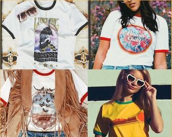 Womans Vintage Guitar Rock /& Roll Long T Shirt Mini Party Dress Ring Choker Top