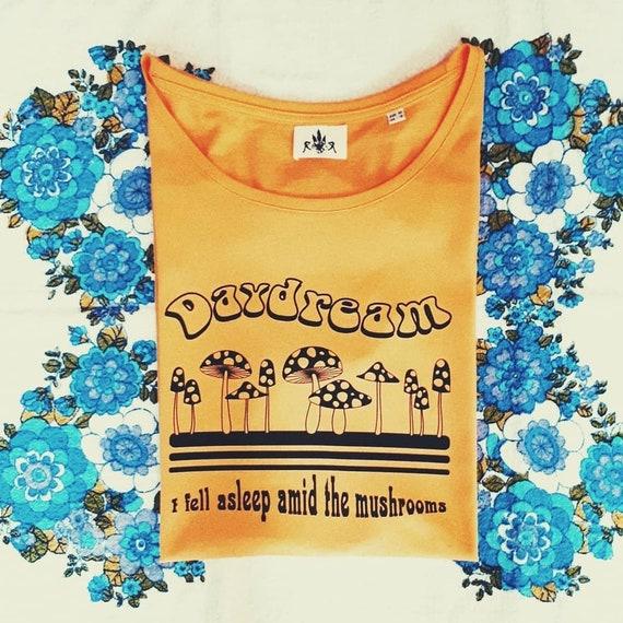 Adventures of Magic Mushroom ringer t shirt Psychédélique 60s//1990s retro HIPPY
