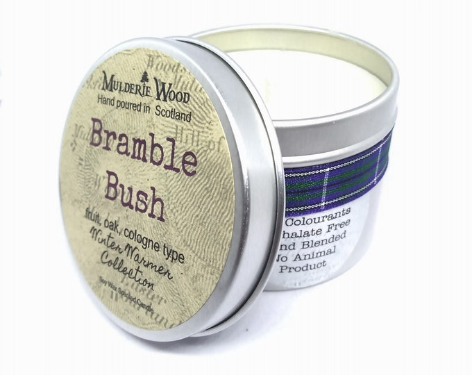 Featured listing image: Bramble Bush Highly Scented Handmade Soy Wax Candle Vegan Autumn Fall Blackberry Picking