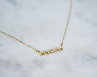 The 'Gold Brick' Bar Necklace