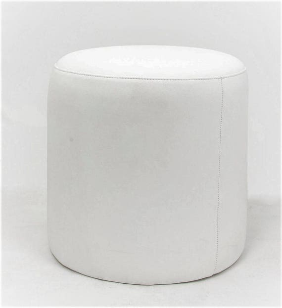 Fabulous Cloud White Pu Leather Ottoman Makeup Vanity Stool Andrewgaddart Wooden Chair Designs For Living Room Andrewgaddartcom