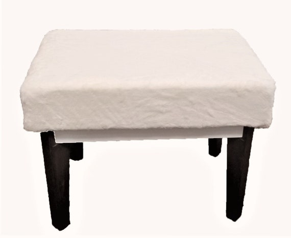 Magnificent Ultra Plush White Faux Fur Vanity Bench Stool Uwap Interior Chair Design Uwaporg