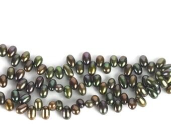 Olive Green Iris Pearls