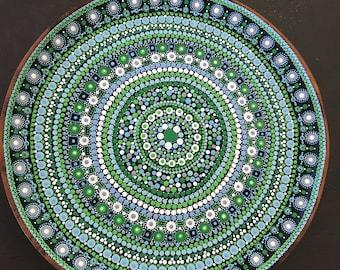 Seafoam Green Mandala Platter E5