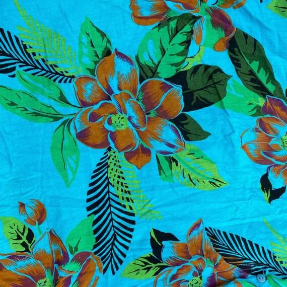 Vintage Hawaiian novelty print button skirt - image 5