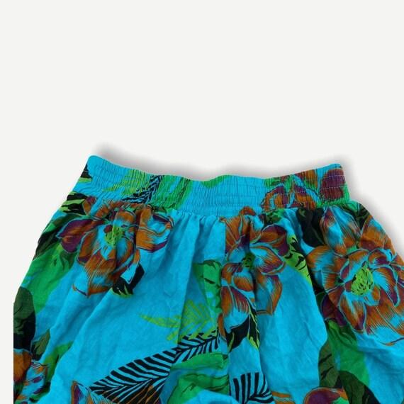 Vintage Hawaiian novelty print button skirt - image 6