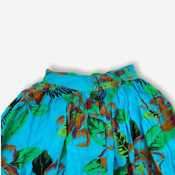 Vintage Hawaiian novelty print button skirt - image 2