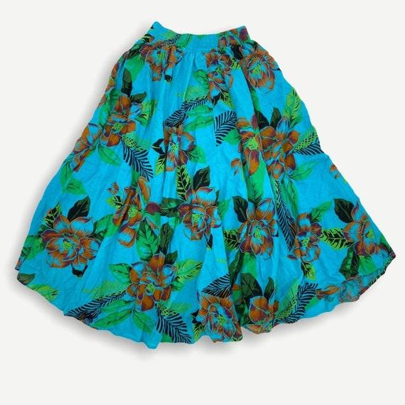 Vintage Hawaiian novelty print button skirt - image 4