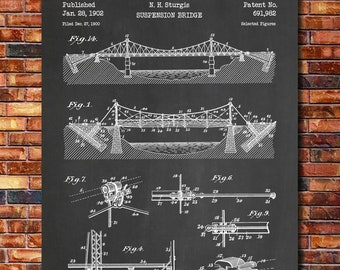 The Design of Renovations Norton Professional Book Suspension Bridge Patent Print