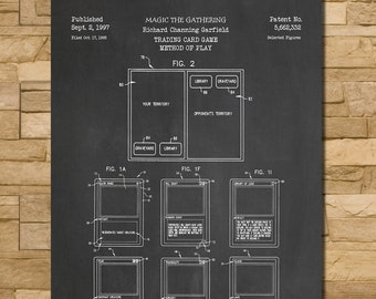 Magic The Gathering Card Game Patent Print Art 1997