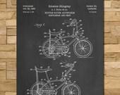 Schwinn Stingray Bicycle Patent Print Art 1968