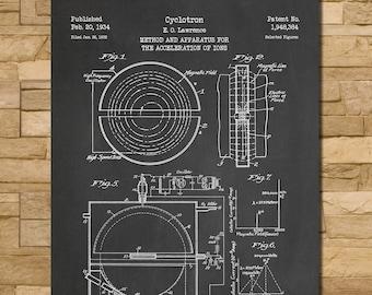 Cyclotron Patent Print Art 1934
