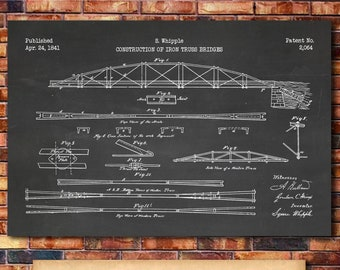 The Design of Renovations Norton Professional Book Truss Bridge Patent Print Art