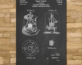 Geiger Counter Patent Print Art 1949