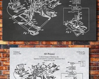 3D Printer Patent Print Art 1992 B