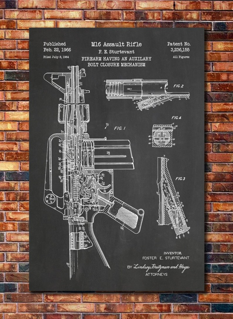 38c17d62884 Choose From Multiple Size and Background Color Options M1 Garand Rifle  Patent Print Art Poster Handmade Products