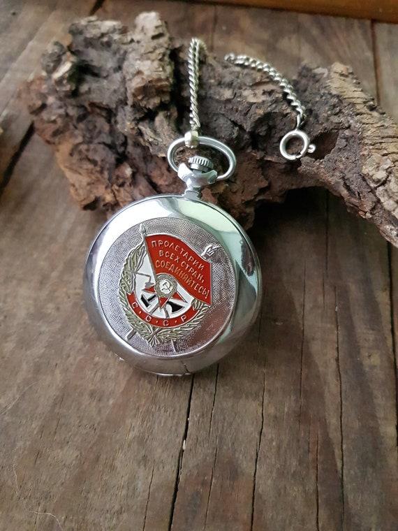 Vintage watches, Pocket watch Molnija,  pocket wat