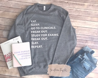 Clinical Sweatshirt, Nursing Student, Xray Student, Med Student