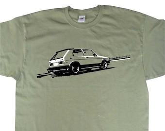 2b9ccb82c Classic MK1 MKI Golf Rabbit GTi T-Shirt Inspired BC210 Various Colours