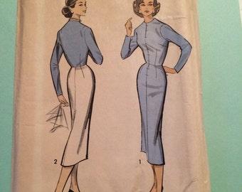 Advance pattern 8350- 1950's stright dress size  12.