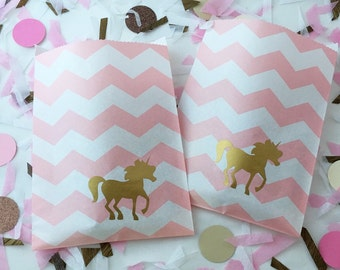 Favor Bags - Unicorn Party - Unicorn Party Supplies - Unicorn Baby Shower - Unicorn Theme - Princess Party - Rainbow Party - Fairy Tales
