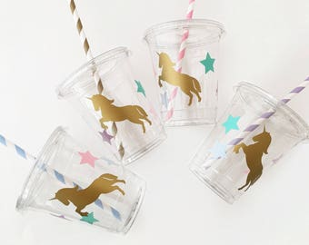 Unicorn Party Cups - Unicorn Birthday - Unicorn Baby Shower - Unicorn Cups - First Birthday - Unicorn Party Favor - Treat Cups - Birthday