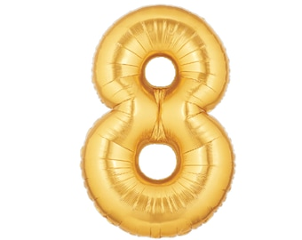 "40"" Number Balloons - 8 Balloon - 80th Birthday - Eighth Birthday - Gold Balloons - Party Balloons - Photo Props - Eight Balloon - Balloons"
