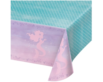 Mermaid Tablecloth - Mermaid Party - Mermaid Birthday Decorations - Mermaid Party Supplies - Party Decorations - Baby Shower - Bachelorette