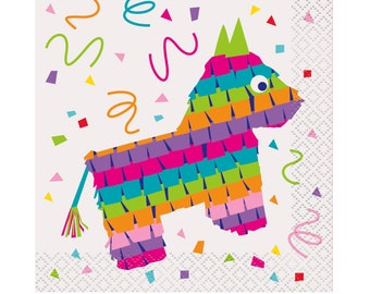 Fiesta Napkins - Fiesta Party Supplies, Fiesta Baby Shower, Cinco de Mayo Party, Fiesta Birthday, Fiesta Bachelorette, Fiesta Party Napkins