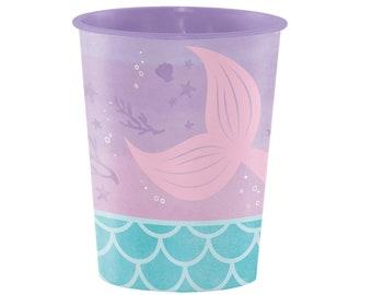 Mermaid Cups - Mermaid Party Supplies, Mermaid Party Decorations,Mermaid Birthday, Mermaid Baby Shower, Mermaid Party Favors, Plastic Cups