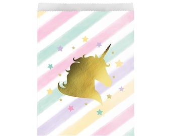 Unicorn Favor Bags - Unicorn Party Favors, Unicorn Favors, Unicorn Treat Bags, Unicorn Party Supplies, Unicorn Birthday Favors, Snack Bags