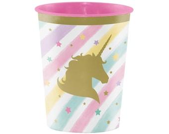 Reusable Unicorn Cups - Unicorn Party Cups - Unicorn Party Favors - Unicorn Birthday - Favor Cups - Unicorn Tableware - Unicorn Decorations
