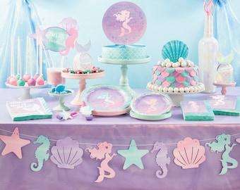 Mermaid Banner - Mermaid Party Decorations - Mermaid Birthday Decorations - Mermaid Party Supplies - Mermaid Garland - Mermaid Baby Shower