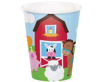 Farm Party Cups - Barn Party - Farm Birthday Treat Cups - Barnyard Birthday - Farm Animal Birthday - Cowboy Party - Farm Party - Cow Party