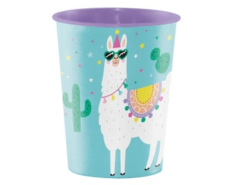 Plastic Favor Cup - Llama Party, Llama Favors, Llama Birthday, Llama Cup, Llama Party Supplies, Party Cups