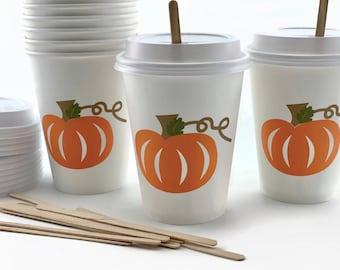 Pumpkin Party Cups - Little Pumpkin Baby Shower, Shower Decorations, Birthday Decorations, Party Decorations, Pumpkin Cups, Party Cups