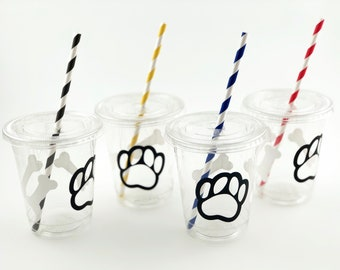 Paw Party Cups - Paw Birthday, Dog Party Supplies, Puppy Birthday, Dog Birthday Party, Dog Shower, Puppy Party Supplies, Dog Cups, Paw Cups