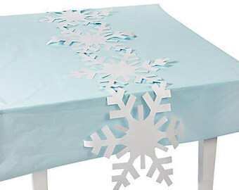 Silver Snowflake Party Cups Snowflake Birthday Winter Etsy