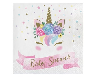 Unicorn Baby Shower Welcome Sign Brunch for Baby Magical Centerpiece  Baby Shower decor Instant Download Baby Shower banner  idbss34