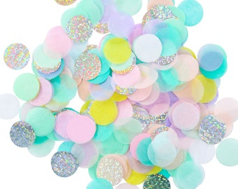 Pastel Rainbow Iridescent Confetti - Tissue Confetti, Pastel Rainbow, Unicorn Party, Iridescent Party, Party Confetti
