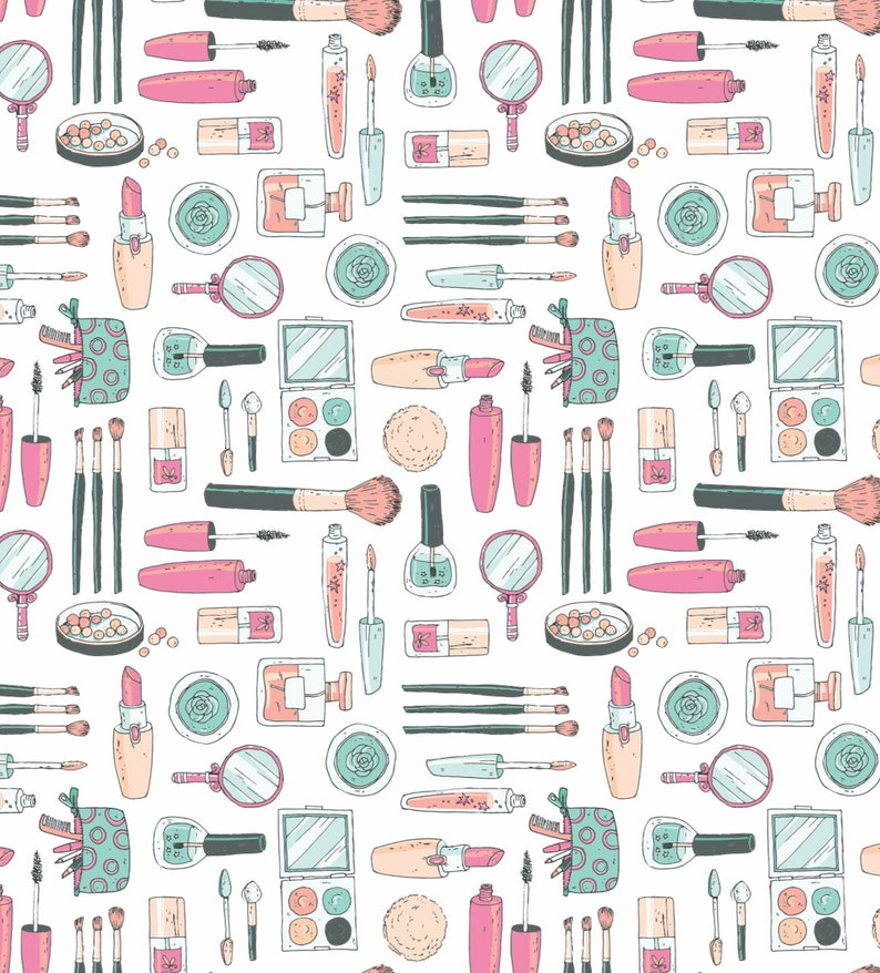 Makeup Birthday Gift Makeup Wrapping Paper Makeup Party Girls Spa Party Gift Wrap for Girls Spa Party Decorations Mothers Day Gift